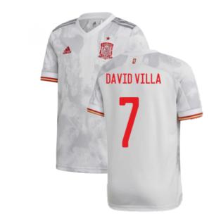 2020-2021 Spain Away Shirt (Kids) (DAVID VILLA 7)