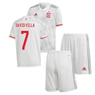 2020-2021 Spain Away Youth Kit (DAVID VILLA 7)