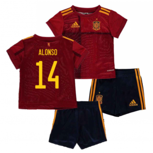 2020-2021 Spain Home Adidas Baby Kit (ALONSO 14)
