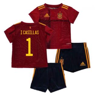 2020-2021 Spain Home Adidas Baby Kit (I CASILLAS 1)