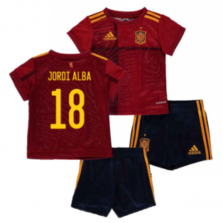 2020-2021 Spain Home Adidas Baby Kit (JORDI ALBA 18)