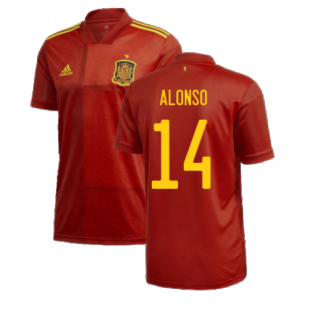 2020-2021 Spain Home Adidas Football Shirt (ALONSO 14)