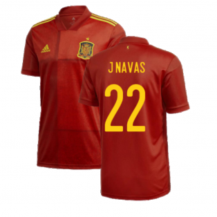 2020-2021 Spain Home Adidas Football Shirt (J NAVAS 22)