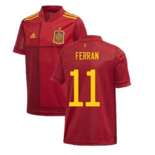 2020-2021 Spain Home Adidas Football Shirt (Kids) (FERRAN 11)