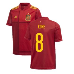 2020-2021 Spain Home Adidas Football Shirt (Kids) (KOKE 8)