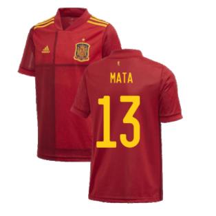 2020-2021 Spain Home Adidas Football Shirt (Kids) (MATA 13)
