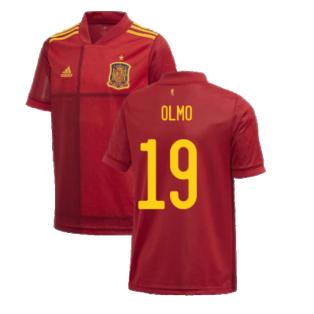 2020-2021 Spain Home Adidas Football Shirt (Kids) (OLMO 19)