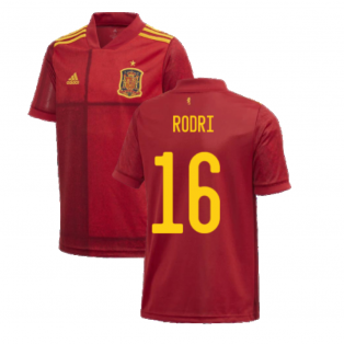 2020-2021 Spain Home Adidas Football Shirt (Kids) (RODRI 16)