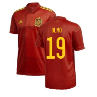 2020-2021 Spain Home Adidas Football Shirt (OLMO 19)