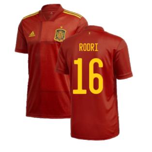 2020-2021 Spain Home Adidas Football Shirt (RODRI 16)
