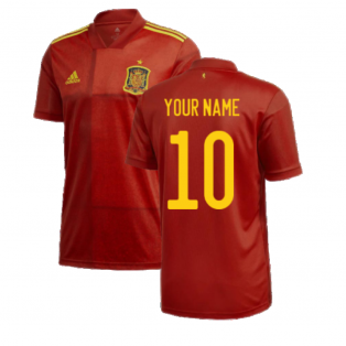 2020-2021 Spain Home Adidas Football Shirt (Your Name)