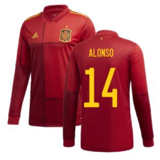 2020-2021 Spain Home Adidas Long Sleeve Shirt (ALONSO 14)