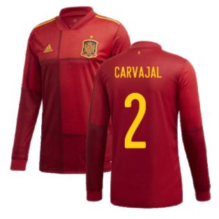 2020-2021 Spain Home Adidas Long Sleeve Shirt (CARVAJAL 2)