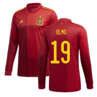 2020-2021 Spain Home Adidas Long Sleeve Shirt (OLMO 19)