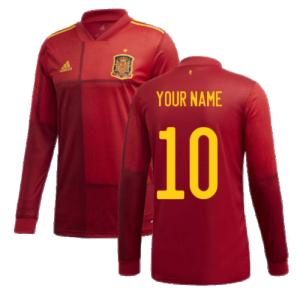2020-2021 Spain Home Adidas Long Sleeve Shirt