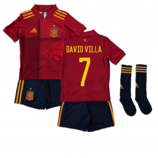 2020-2021 Spain Home Adidas Mini Kit (DAVID VILLA 7)