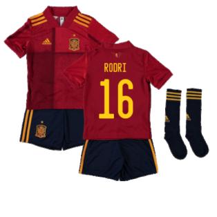 2020-2021 Spain Home Adidas Mini Kit (RODRI 16)