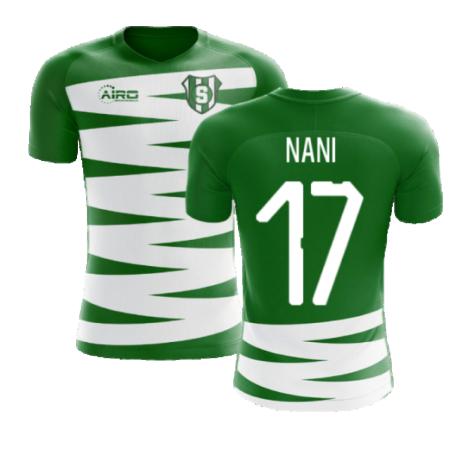 2020-2021 Sporting Lisbon Home Concept Football Shirt (Nani 17)