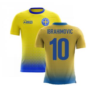 2020-2021 Sweden Airo Concept Home Shirt (Ibrahimovic 10) - Kids