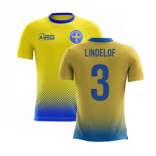 2020-2021 Sweden Airo Concept Home Shirt (Lindelof 3) - Kids