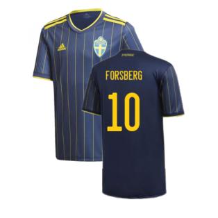 2020-2021 Sweden Away Shirt (Kids) (FORSBERG 10)