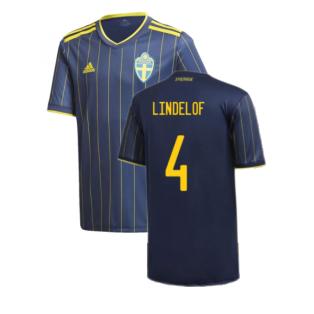 2020-2021 Sweden Away Shirt (Kids) (LINDELOF 4)