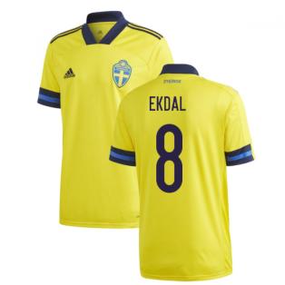 2020-2021 Sweden Home Adidas Football Shirt (EKDAL 8)