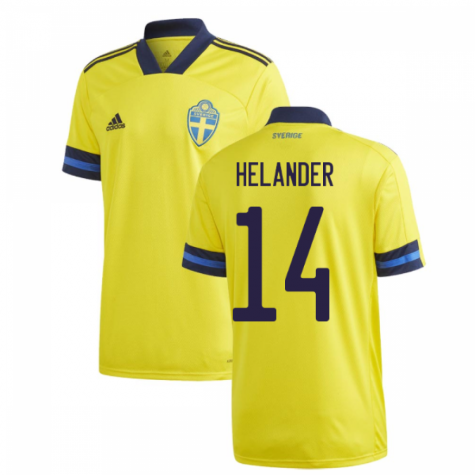 2020-2021 Sweden Home Adidas Football Shirt (HELANDER 14)