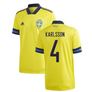 2020-2021 Sweden Home Adidas Football Shirt (KARLSSON 4)