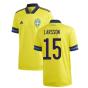 2020-2021 Sweden Home Adidas Football Shirt (LARSSON 15)