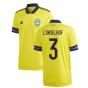 2020-2021 Sweden Home Adidas Football Shirt (LINDELHOF 3)