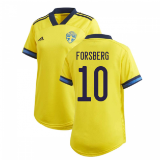 2020-2021 Sweden Home Adidas Womens Shirt (FORSBERG 10)
