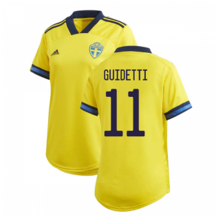 2020-2021 Sweden Home Adidas Womens Shirt (GUIDETTI 11)