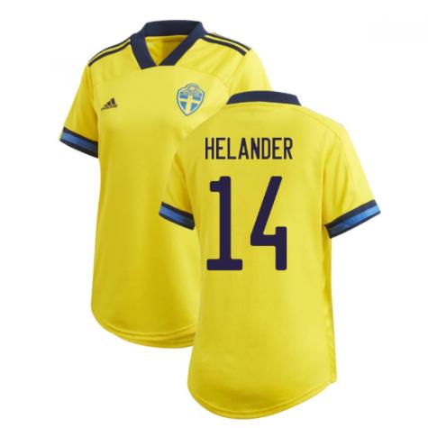 2020-2021 Sweden Home Adidas Womens Shirt (HELANDER 14)
