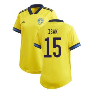 2020-2021 Sweden Home Adidas Womens Shirt (ISAK 15)