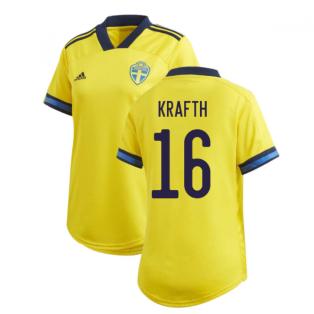 2020-2021 Sweden Home Adidas Womens Shirt (KRAFTH 16)