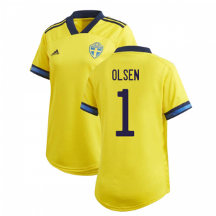 2020-2021 Sweden Home Adidas Womens Shirt (OLSEN 1)