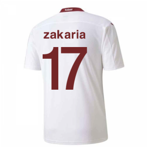 2020-2021 Switzerland Away Puma Football Shirt (ZAKARIA 17)