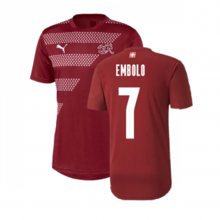 2020-2021 Switzerland Stadium Jersey (Pomegranate) (EMBOLO 7)
