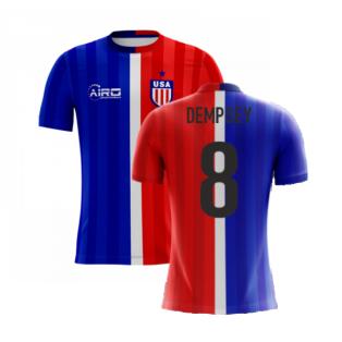 2020-2021 USA Airo Concept Away Shirt (Dempsey 8) - Kids