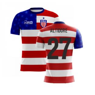 2020-2021 USA Airo Concept Home Shirt (Altidore 27) - Kids