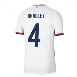 2020-2021 USA Home Football Shirt (BRADLEY 4)