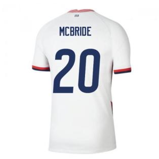 2020-2021 USA Home Football Shirt (MCBRIDE 20)