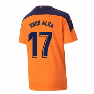 2020-2021 Valencia Away Shirt (Kids) (JORDI ALBA 17)