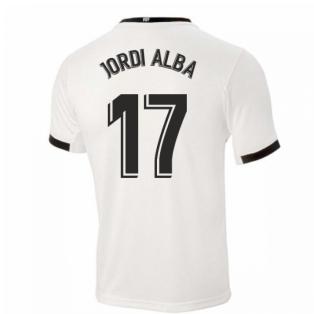 2020-2021 Valencia Home Shirt (JORDI ALBA 17)