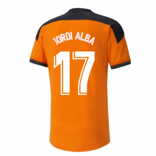 2020-2021 Valencia Training Shirt (Orange) (JORDI ALBA 17)