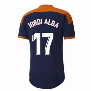 2020-2021 Valencia Training Shirt (Peacot) (JORDI ALBA 17)