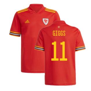 2020-2021 Wales Home Adidas Football Shirt (GIGGS 11)