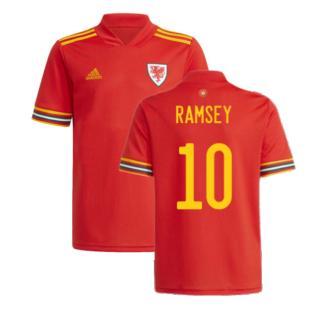 2020-2021 Wales Home Adidas Football Shirt (RAMSEY 10)