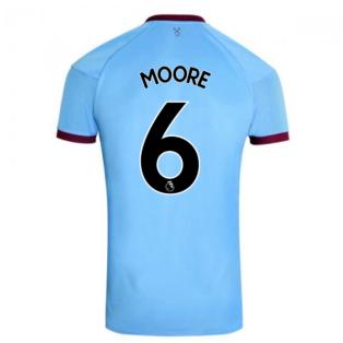 2020-2021 West Ham Away Football Shirt (MOORE 6)